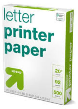 Ream of White Copy Paper- Letter